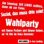Banner Wahlparty